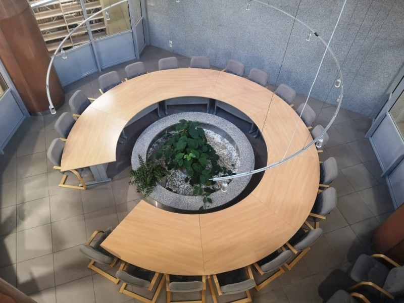 Зал коворкинга Атриум 1-й этаж